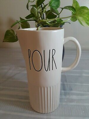 """Rae Dunn New """"Pour"""" Pitcher With Matte Finish"""