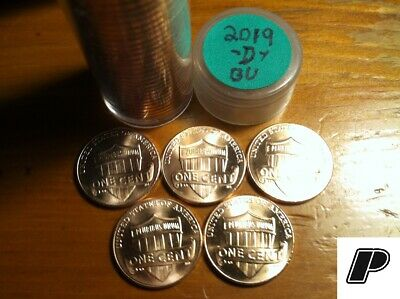 Five (5 Coins) 2019 D Lincoln Cent Penny CHOICE BU -Denver ONLY- FREE FAST S&H