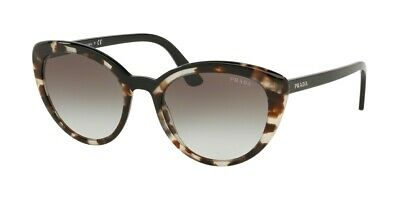 1a4cca5fcb8a PRADA ULTRAVOX EVOLUTION PR 02VS Beige Havana Black/Grey Shaded Sunglasses