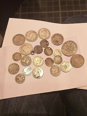 Pre1920 Silver coins  73 grams 3d 4d 6d shillings and a florin