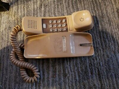 Vintage AT&T Trimline 210 Beige Push Button Telephone Cord 1988
