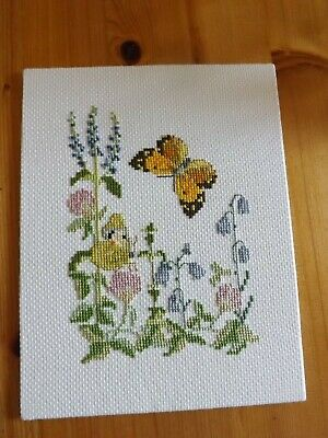 Butterflies & Wild Flowers  Completed Cross Stitch Picture