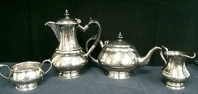 Vintage Antique E.P.B.M Silver Tea Coffee Milk Jug Sugar Bowl #118