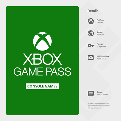 Xbox Game Pass 14 Day Trial (Xbox One) - Digital Code [GLOBAL]
