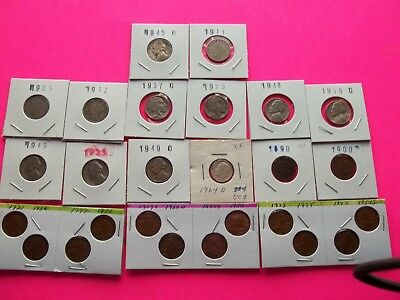 Vintage Lot of 26 Old Coins  From 50 to 125 Years Old Some Silver Coins (OCML11)