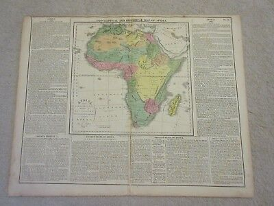 Rare map of Africa, 1821, Mountains of the Moon, Carey, handcolored, much info