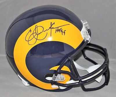 Eric Dickerson Signed  Autographed St Louis Rams FS Helmet w  HOF 99 Beckett 450f32777