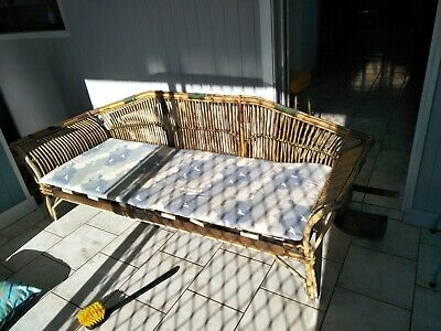 1930 antique cane daybed