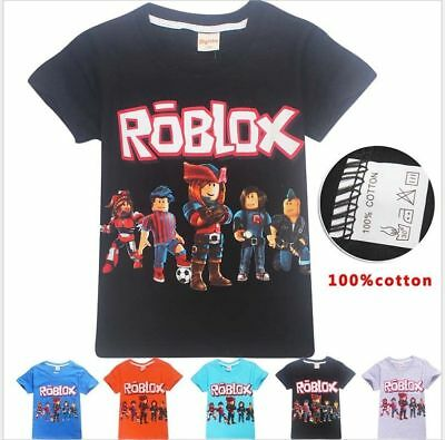 New Kids Boys Girls ROBLOX Family 100% Cotton T shirts Children Casual Tops