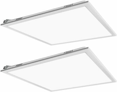 2/PACK 2x2ft 40W Led panel light 5000K Dimmable UL DLC certified troffer lamp