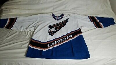3becb0fc807 Washington Capitals Vintage CCM NHL Jersey Screaming Eagle Size XXL 2XL  White
