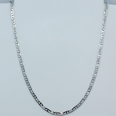 """3mm 316L Titanium Stainless Steel Mens Womens Mariner Link Necklace Chain 20"""""""