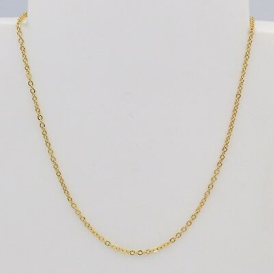"""1.5mm High Quality Unisex 18K Yellow Gold Plated Thin Box Necklace Chian 18 """""""