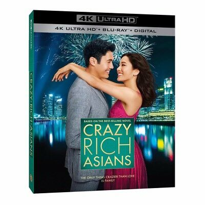 Crazy Rich Asians (4K Ultra HD, Blu-ray, 2018, Digital) NEW