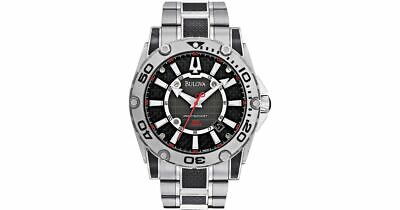"BULOVA 96B156 Precisionist ""Champlain"" Black Carbon Fiber Men's Watch $625"