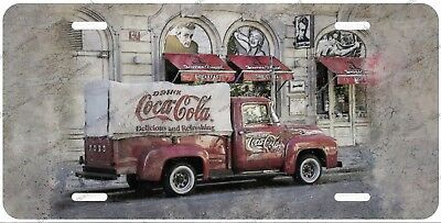 Vintage Classic Coke Cola Truck License Plate Auto Car Bike Motorcycle Wall Sign
