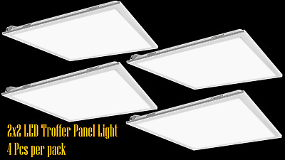 4-PACK 2x2FT Led panel light 40W 5000K Dimmable UL DLC certified troffer lamp
