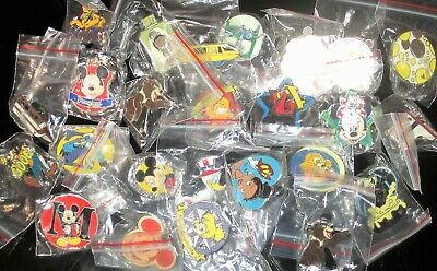 25 Disney Pin Trading Assorted Pin Lot NEW Pins Tradeable