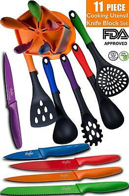 Aveline 11-Piece Kitchen Cooking Utensil and Knife Set