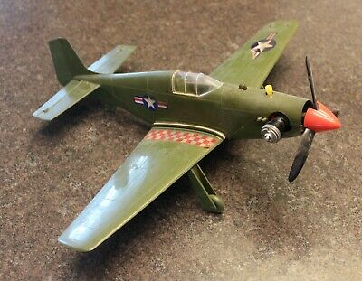 Early Cox Avian P-51B Mustang Has Flown .049 Cox Glow Engine Very Good Condition