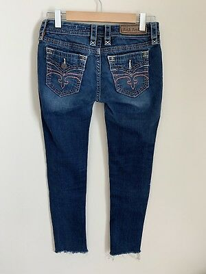 887f175fcb6dc Rock Revival Buckle Women's Jeans 28 X 28 Alivia Skinny Cut Ankle Pants  Denim