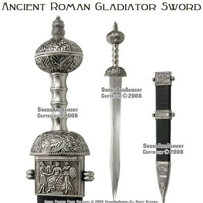 Roman Gladius Sword Maximus Gladiator Medieval Armor with Detail