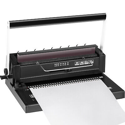 Manual 34-Hole Metal Binding Machine Wire Coil Punching Binder Square Hole