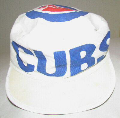 942930e11ac51 CHICAGO CUBS Vintage Painters Hat BASEBALL Throwback 80s! Sz-Med Small CUBS  CAP