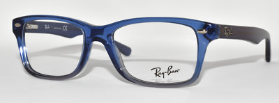 c9af7ca6067 New Authentic Eyeglasses Kid s Ray Ban Rb1531 3647 Transparent Blue 48-16- 130
