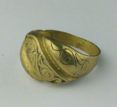 ANCIENT OLD Ring BRONZE VIKING RING Bronze Extremely RARE Type