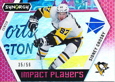 2017/18 Upper Deck Synergy IP-50 Sidney Crosby Impact Players Red Parallel