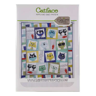 Catface Applique Quilt Pattern by Claire Turpin Design Quilting Sewing Craft DIY