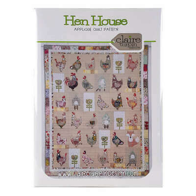 Hen House Applique Quilt Pattern by Claire Turpin Design