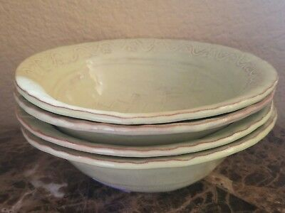 New Vietri Bellezza Celadon Set Of 4 Cereal Bowls