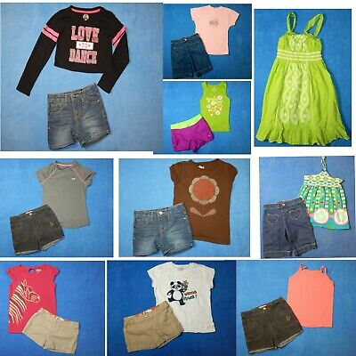 15 piece lot of nice clean girls Spring Summer clothing size 7-8 Everyday 3s20