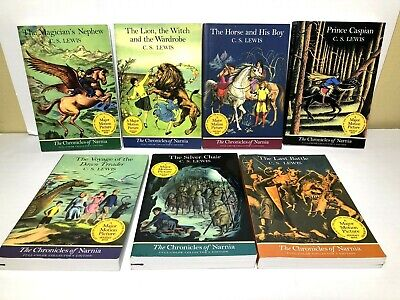The Chronicles of Narnia - Novels by C.S. Lewis | Set of 7 Paperback Books