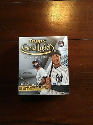 2018 Topps Gold Label Baseball Factory Sealed Hobby Box ! 1 Framed Auto !!!