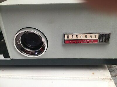 """""""rare"""" vintage projector 1966 hanimex hanomat 500 35mm with screen and stand"""