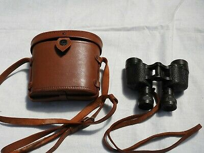 World War 2 RAAF Issue Binoculars complete with Leather case and straps