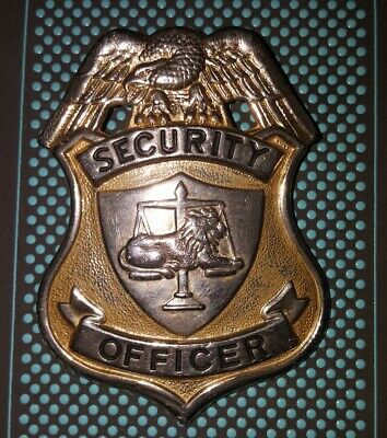 Security Officer Badge Old - Missing Clasp