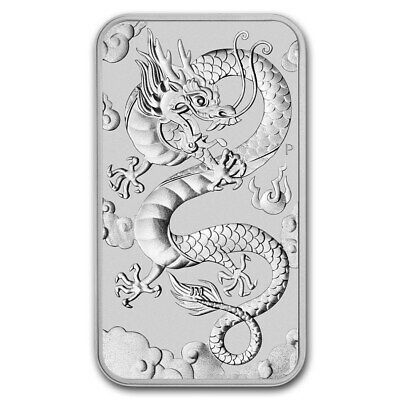 Perth Mint Argent 1 Once barre Dragon 2019