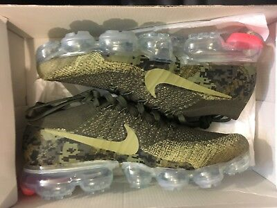 New Nike Air Vapormax Flyknit C Neutral Olive Camo Running Ah8447-201 Men Size 8