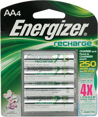 Energizer Rechargeable AA NiMh 4-pack