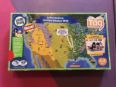 LEAPFROG TAG PEN LeapReader Map — UNITED STATES 2-SIDED INTERACTIVE ...