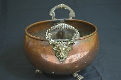Antique Hand Made Decorative Copper Brass Bowl