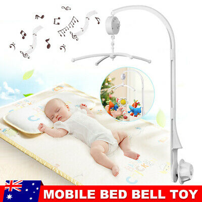 Baby Crib Mobile Bed Bell Lullaby Toy Holder Arm Bracket Wind-up Music Box Gift