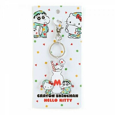 cfa5e53d0 Sanrio Hello Kitty × Crayon Shin Chan Acrylic KeyChain Pajamas From Japan  F/S