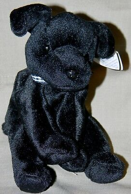 TY ORIGINAL LUKE the Dog Beanie Baby - retired - birth date 6 15 98 ... 7e58e94719b