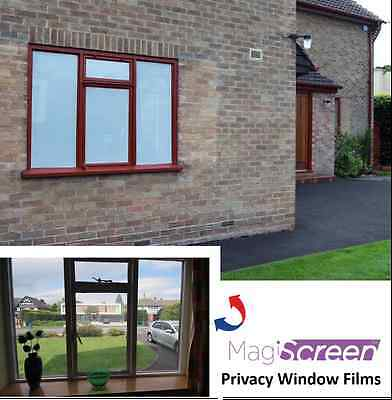 One-way vision window film for daytime privacy, white perforated outside look