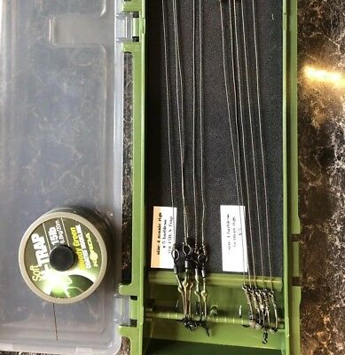 Korda N-trap 5x Ronnie  Rigs And 5x German Rigs size 6 Barbed In RigBox Carp